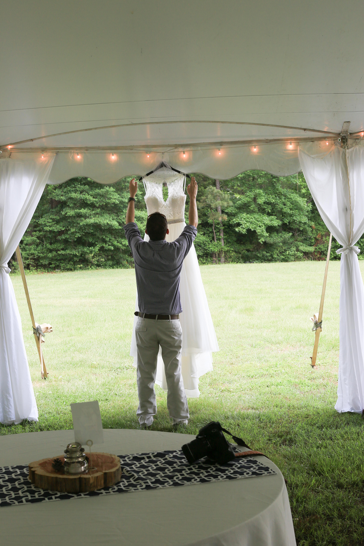 Rustic Country Backyard Tent Wedding Gaston North Carolina (1 of 1)-4.jpg