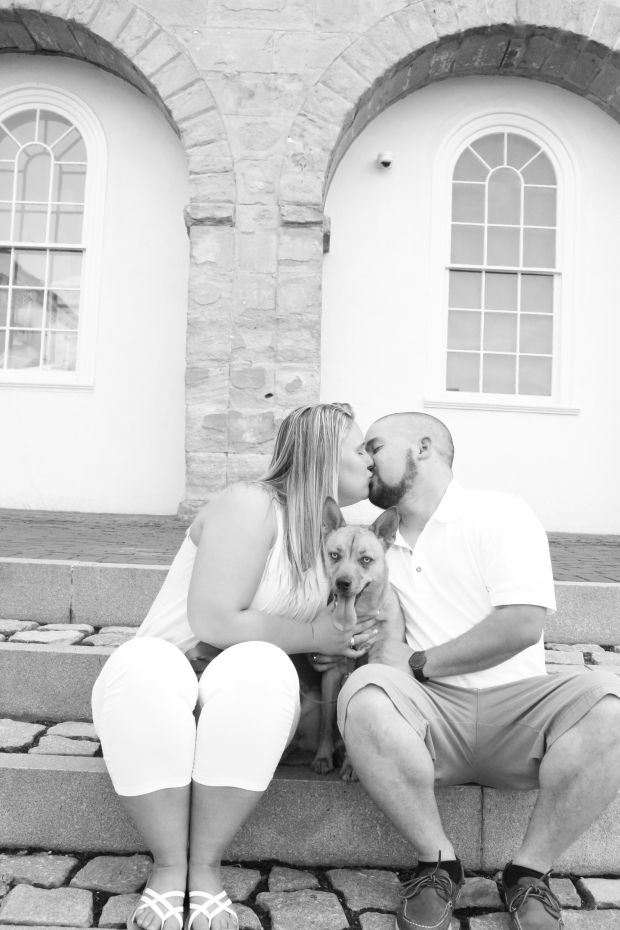 downtown fredericksburg virginia engagement session heather michelle photography dog (1 of 1)-10