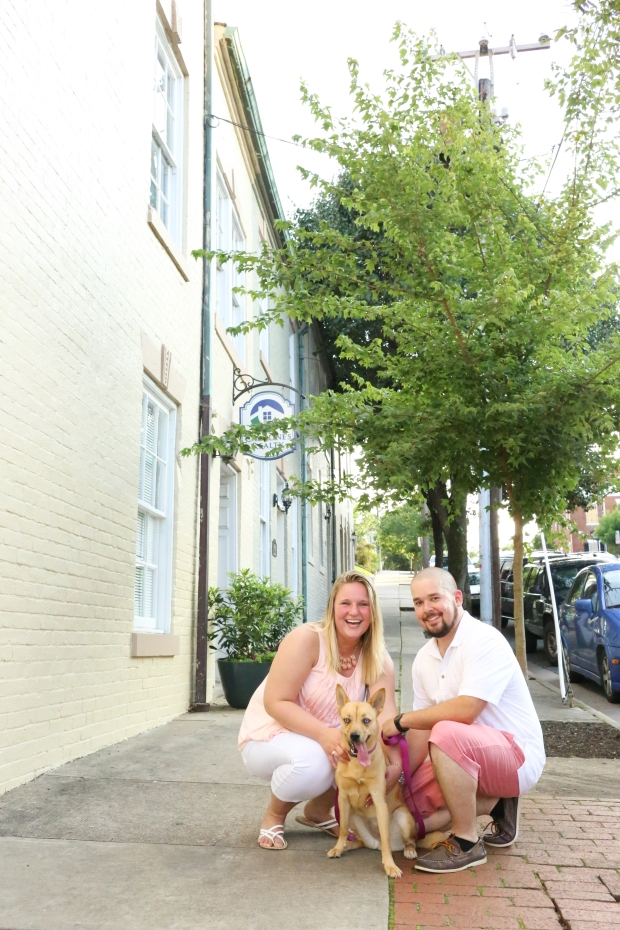 downtown fredericksburg virginia engagement session heather michelle photography dog (1 of 1)-14