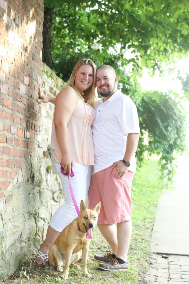 downtown fredericksburg virginia engagement session heather michelle photography dog (1 of 1)-25