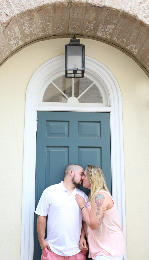 downtown fredericksburg virginia engagement session heather michelle photography dog (1 of 1)-9